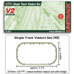 Unitrack V2 Single Track Viaduct Set
